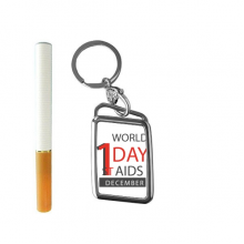 1st December World AIDS Day Solidarity HIV Awareness Symbol Cigarette Lighter USB Electric Arc Metal Flameless Rechargeable Windproof Lighter Elegant Gift Box