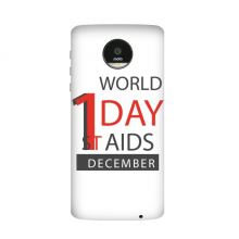 1st December World AIDS Day Solidarity HIV Awareness Symbol Motorola Moto Z / Z Force / Z2 Force Droid Magnetic Mods Phonecase Style Mod Gift