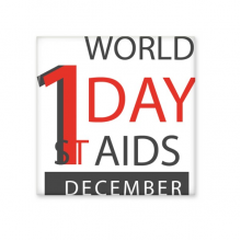 1st December World AIDS Day Solidarity HIV Awareness Symbol Ceramic Bisque Tiles for Decorating Bathroom Decor Kitchen Ceramic Tiles Wall Tiles