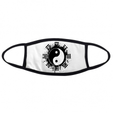 Eight Diagrams Taiji Yin-yang China Chinese Traditional Culture Art Illustration Pattern Face Anti-dust Head Anti Cold Heade Gift