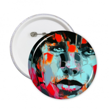 Abstract Character Figure Boy Oil Painting Illustration Pattern Round Pins Badge Button Clothing Decoration Gift 5pcs