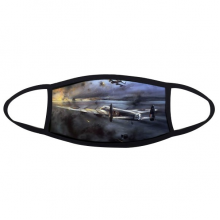 Air Combat The Second World War II Airplanes Air Force Smoky Tragic Military Oil Painting Face Anti-dust Mask Anti Cold Maske Gift