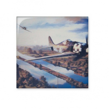 Air Combat The Second World War II Air Force  Town River Military Oil Painting Ceramic Bisque Tiles for Decorating Bathroom Decor Kitchen Ceramic Tiles Wall Tiles