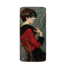 Character Oil Painting Girl Chair Art Illustration Pattern Motorola Moto Z / Z Force / Z2 Force Droid Magnetic Mods Phonecase Style Mod Gift