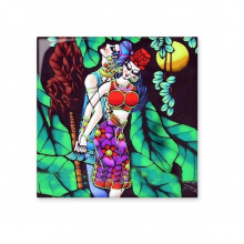 Sexy Man And Woman Bikini Romance Moonlight Tree Painting Ceramic Bisque Tiles for Decorating Bathroom Decor Kitchen Ceramic Tiles Wall Tiles