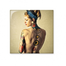 Bohemian Style Sexy Religion Nude Beauty Body Painting Lady Girl Gal Ceramic Bisque Tiles for Decorating Bathroom Decor Kitchen Ceramic Tiles Wall Tiles