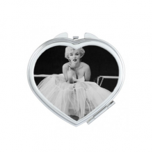 White Gauze Skirt Marilyn Monroe Old Movie Classic Photos Sexy Picture Heart Compact Makeup Pocket Mirror Portable Cute Small Hand Mirrors Gift