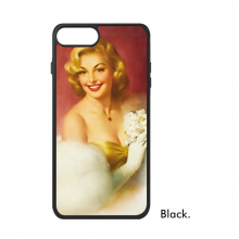 Velvet Dress Marilyn Monroe With Flowers Picture Sexy Design Oil Painting iPhone 7/7 Plus Cases iPhonecase  iPhone Cover Phone Case
