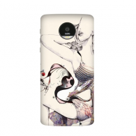 Hot Sexy Abstract Drawing Babe Girl Boobs Breasts Ass Butt Shorts Pretty Gal Lady Illustration Motorola Moto Z /Z Force Droid Magnetic Mods Phonecase Style Mod Gift