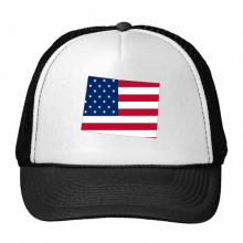 The United States Of America USA Colorado Map Stars And Stripes Flag Shape Trucker Hat Baseball Cap Nylon Mesh Hat Cool Children Hat Adjustable Cap Gift