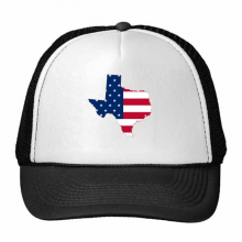 The United States Of America USA Texas Map Stars And Stripes Flag Shape Trucker Hat Baseball Cap Nylon Mesh Hat Cool Children Hat Adjustable Cap Gift
