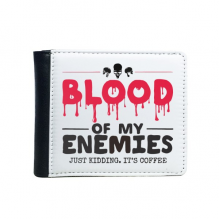 Zombie Biochemical Horror Bloody Kidding Theme English Gift Flip Bifold Faux Leather Wallet  Multi-Function Card Purse Gift