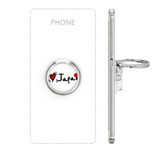 I Love Japan Word Flag Love Heart Illustration Pattern Metal Rotation Ring Stand Holder Bracket for Smartphones Cell Phone Support Accessories Gift