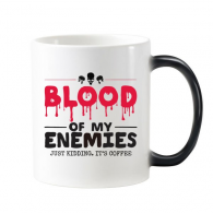 Zombie Biochemical Horror Bloody Kidding Theme English Gift Morphing Heat Sensitive Changing Color Mug Cup Gift Milk Coffee With Handles 350 ml
