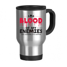 Zombie Biochemical Horror Bloody Kidding Theme English Gift Stainless Steel Travel Mug Travel Mugs Gifts With Handles 13oz
