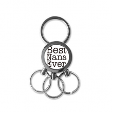 Best Ever English Letters Present Pattern Metal Key Chain Ring Car Keychain Creative Trinket Keyring Novelty Item Best Charm Gift