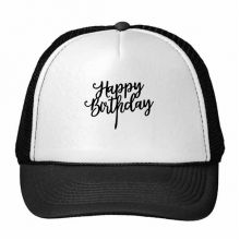 Abstract Letters Happy Birthday Abstract Gifts Presents  Blessing Beautiful Best Wishes Trucker Hat Baseball Cap Nylon Mesh Hat Cool Children Hat Adjustable Cap Gift