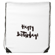 Abstract Happy Birthday Gifts Presents Letters Blessing Beautiful Best Wishes Drawstring Backpack Fine Lines Shopping Creative Handbag Gift Shoulder Environmental Polyester Bag