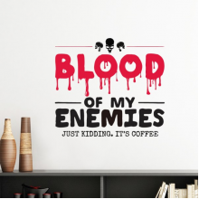 Zombie Biochemical Horror Bloody Kidding Theme English Gift Silhouette  Removable Wall Sticker Art Decals Mural DIY Wallpaper for Room Decal
