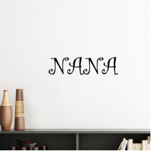 Curlicue Grandmother Grandma English Letters Nana Present Pattern Best Wishes Silhouette  Removable Wall Sticker Art Decals Mural DIY Wallpaper for Room Decal