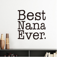 Best Ever English Letters Present Pattern Silhouette  Removable Wall Sticker Art Decals Mural DIY Wallpaper for Room Decal