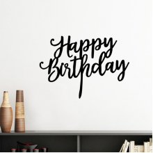 Abstract Letters Happy Birthday Abstract Gifts Presents  Blessing Beautiful Best Wishes Silhouette  Removable Wall Sticker Art Decals Mural DIY Wallpaper for Room Decal