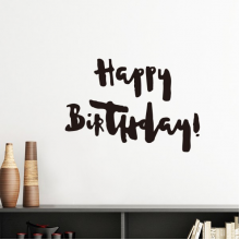 Abstract Happy Birthday Gifts Presents Letters Blessing Beautiful Best Wishes Silhouette  Removable Wall Sticker Art Decals Mural DIY Wallpaper for Room Decal
