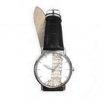 Leaning Tower of Pisa Italy Pisa Landmark Pattern Quartz Analog Wrist Business Casual Watch with Stainless Steel Case Gift