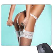 Lace White Thong Hot Sexy Bikini Nude Back Girl Ass Butt Gal Lady Mouse Pad Non-Slip Rubber Mousepad Game Office