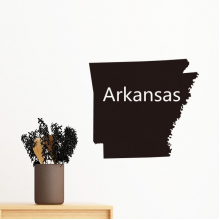 Arkansas The United States Of America USA Map Silhouette Removable Wall Sticker Art Decals Mural DIY Wallpaper for Room Decal