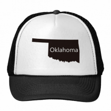 Oklahoma The United States Of America USA Map Silhouette Trucker Hat Baseball Cap Nylon Mesh Hat Cool Children Hat Adjustable Cap Gift