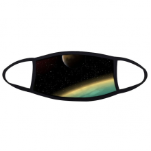 A Blue Planet And Two Yellow Planets In The Universe Illustration Pattern Face Anti-dust Mask Anti Cold Maske Gift