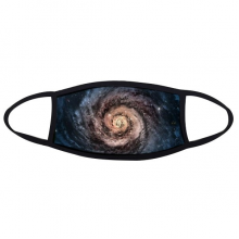 Red To Blue Whirlpool Nebula And Nebula Particles Illustration Patterns Face Anti-dust Head Anti Cold Heade Gift