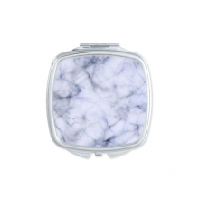 Black White Marble Modern Abstract Miscellaneous Illustration Pattern Square Compact Makeup Pocket Mirror Portable Cute Small Hand Mirrors Gift