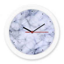 Black White Marble Modern Abstract Miscellaneous Illustration Pattern Silent Non-ticking Round Wall Decorative Clock Battery-operated Clocks Gift Home Decal
