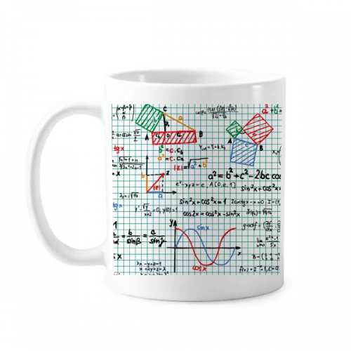Trigonometric Function Mathematical Formulas Science Calculus Figure Classic Mug White Pottery Ceramic Cup Gift Milk Coffee With Handles 350 ml