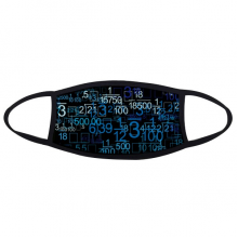 Digital Score Decimal Blue Illustration of Science And Technology Face Anti-dust Mask Anti Cold Maske Gift