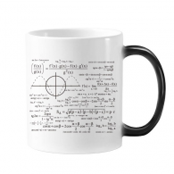 Curve Graphs Mathematical Science Formula Calculations Morphing Heat Sensitive Changing Color Mug Cup Gift Milk Coffee With Handles 350 ml