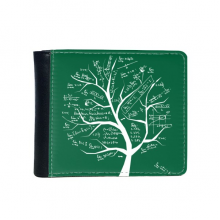 Tree-Shaped Seeking Limits Mathematical Formulas Science Calculus Painted Stick Figure Flip Bifold Faux Leather Wallet  Multi-Function Card Purse Gift