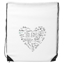 Heart-Shaped Seeking Limits Mathematical Formulas Science Calculus Painted Stick Figure Drawstring Backpack Shopping Sports Bags Gift