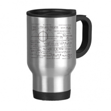 Curve Graphs Mathematical Science Formula Calculations Stainless Steel Travel Mug Travel Mugs Gifts With Handles 13oz