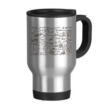 Dimensional Geometry Mathematical Formulas Science Calculus Figure Stainless Steel Travel Mug Travel Mugs Gifts With Handles 13oz