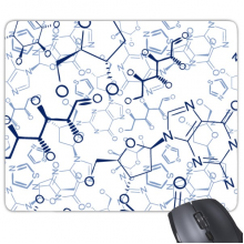 Abstract Blue Chemical Molecular Structure Illustration Rectangle Non-Slip Rubber Mousepad Game Mouse Pad Gift