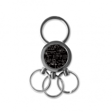 Matrix Mathematical Formulas Science Calculus Figure Metal Key Chain Ring Car Keychain Creative Trinket Keyring Novelty Item Best Charm Gift