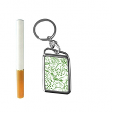 Green Microscope Cells Structure Biological Illustration Cigarette Lighter USB Electric Arc Metal Flameless Rechargeable Windproof Lighter Elegant Gift Box