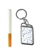 Abstract Blue Chemical Molecular Structure Illustration Cigarette Lighter USB Electric Arc Metal Flameless Rechargeable Windproof Lighter Elegant Gift Box