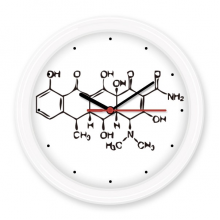 Molecular Organic Chemistry Atomic Structure Illustration Silent Non-ticking Round Wall Decorative Clock Battery-operated Clocks Gift Home Decal