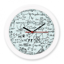 Dimensional Geometry Mathematical Formulas Science Calculus Figure Silent Non-ticking Round Wall Decorative Clock Battery-operated Clocks Gift Home Decal