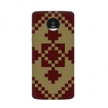 Brown Tan Square And Cross In Rhombus Nordic Illustration Pattern Motorola Moto Z / Z Force / Z2 Force Droid Magnetic Mods Phonecase Style Mod Gift