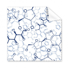 Abstract Blue Chemical Molecular Structure Illustration Glasses Cloth Cleaning Cloth Gift Phone Screen Cleaner 5pcs